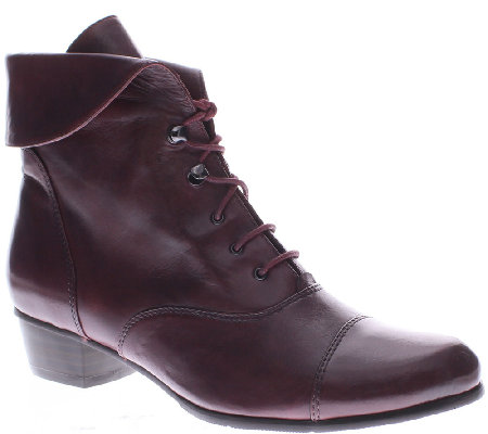 Spring Step Leather Ankle Boots Galil