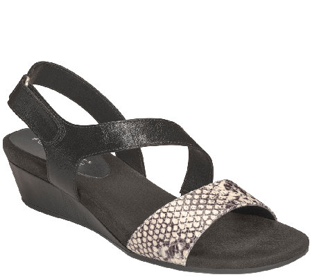 Aerosoles Heel Rest Wedge Sandals - Yet Ahead