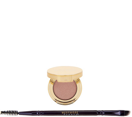 Westmore Beauty Double Feature Brow Pomade and Highlighter with Brush