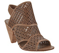 Vince Camuto Nubuck Perforated Heeled Sandals - Ekanya - A347241