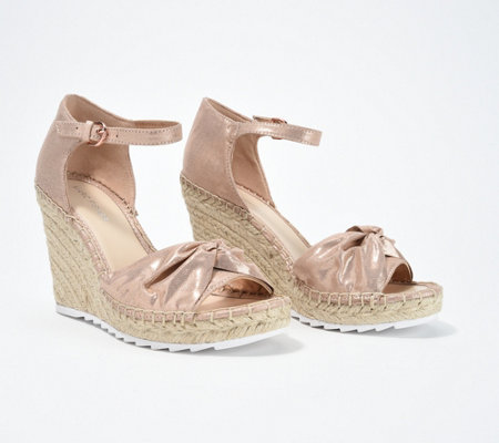 0d70b4ce50 Marc Fisher Open-Toe Espadrille Wedges - Karli - Page 1 — QVC.com