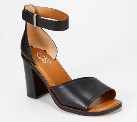 824f8e028 Franco Sarto Block Heeled Sandals - Caia - Page 1 — QVC.com
