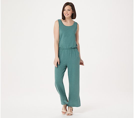 LOGO Lounge by Lori Goldstein Jersey Wide-Leg Jumpsuit