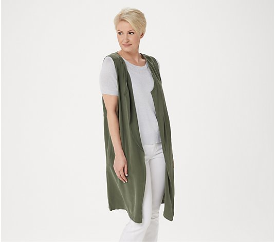 Lisa Rinna Collection Drape Front Duster Vest