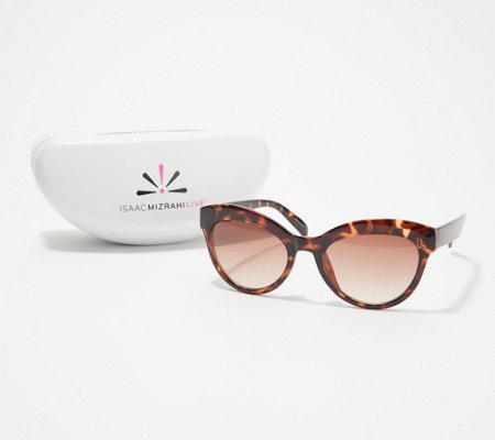 d2014220f964b Isaac Mizrahi Live! Rounded Cat Eye Sunglasses - Page 1 — QVC.com