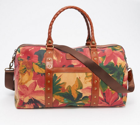 Patricia Nash Portofino Collection Coated Canvas Milano Duffel