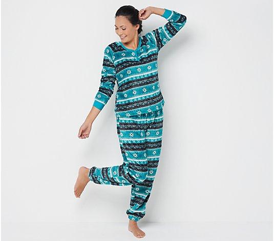 MUK LUKS Textured Plush Novelty Pajama Set