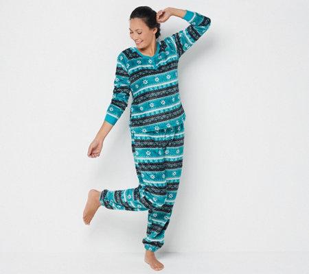 NWT AQUA Brand 2 Piece Sleep Set Blue /& Black w// Star Pattern Waffle Texture Med