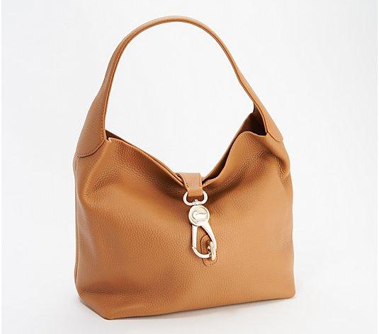 Details about  /Dooney /& Bourke Pebble Leather Shoulder Logo Lock Hobo Handbag Black Pre Owned