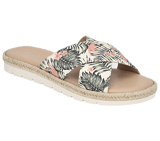 Easy Spirit Criss Cross Slip-On Sandals - Tierra