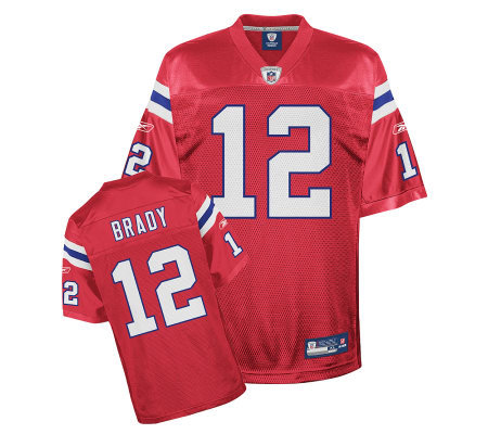 tom brady jersey red 3xl