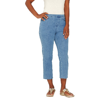 Isaac Mizrahi Live! Regular 24/7 Denim Crop Jeans