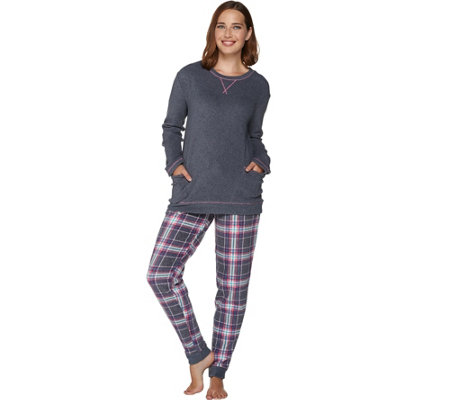 Cuddl Duds Stretch Fleece Novelty Pajama Set