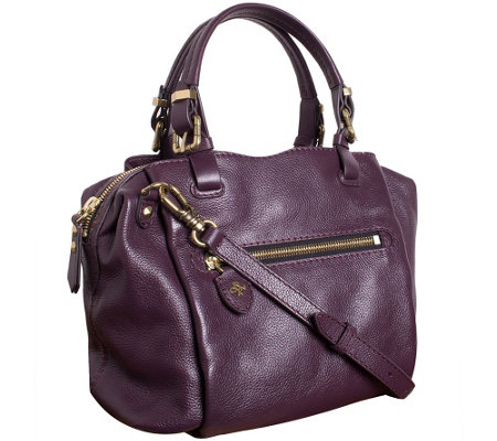 """As Is"" orYANY Pebble Leather Satchel - Alexis"