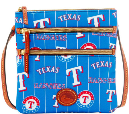Dooney & Bourke MLB Nylon Rangers Triple Zip Crossbody