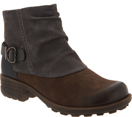 Earth Origins Leather and Suede Ankle Boots - Paige