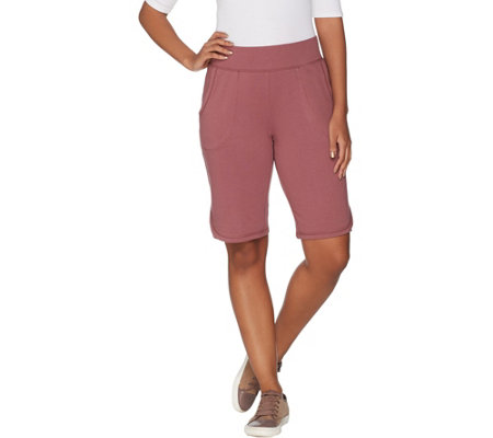 Denim & Co. Active French Terry Bermuda Shorts with Pockets