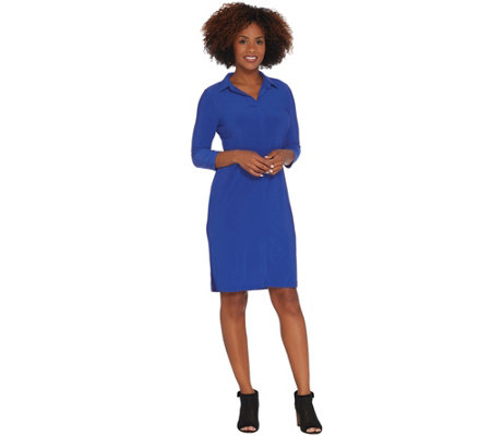 Attitudes by Renee Petite Como Jersey Tunic Shirt Dress