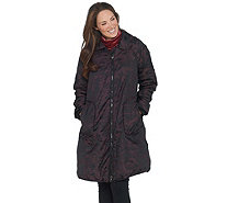 LOGO by Lori Goldstein Jacquard Coat with Fleece Lining - A343642