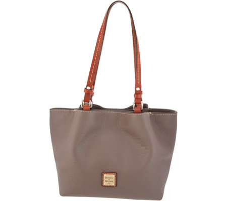 e099ed581dbe Dooney   Bourke Pebble Leather Small Flynn Tote - Page 1 — QVC.com