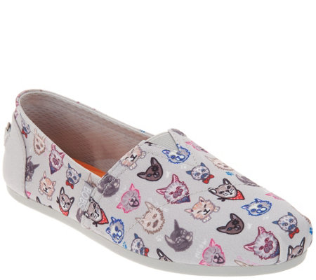 Skechers BOBS Slip-On Shoes - Dapper Cats