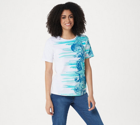 Denim Co Printed Short Sleeve Top