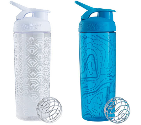 BlenderBottle Set of 2 SportMixer Signature Sleek Bottles