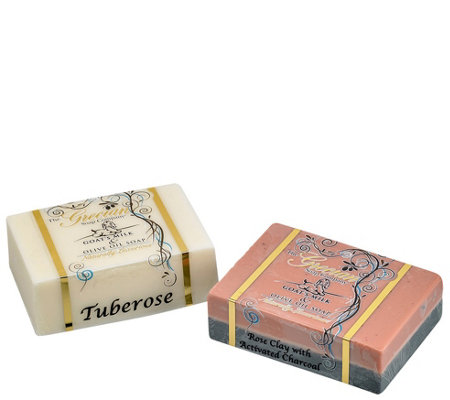 Tuberose & Rose Clay Goat's Milk & Olive Oil Soap Bars