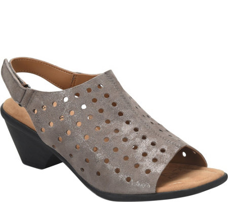 Comfortiva Leather Sandals - Fern