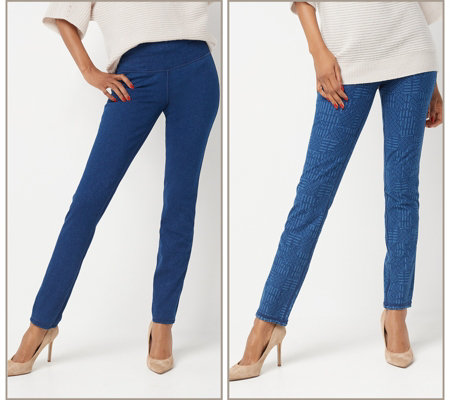 Women with Control Tall Prime Stretch Reversible Ankle Jeans