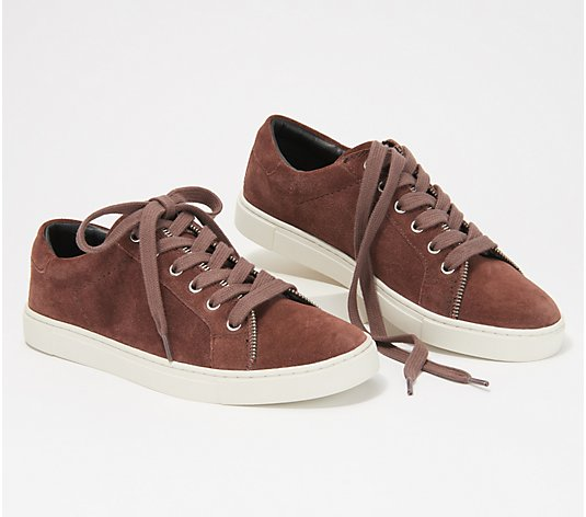 frye & co. Leather or Suede Sneakers - Sindy Moto