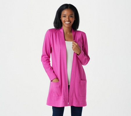 Isaac Mizrahi Live! Essentials Open Front Knit Cardigan