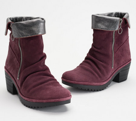 """As Is"" FLY London Suede Ankle Boots - Wati"