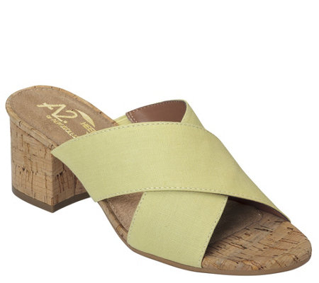 A2 by Aerosoles Heel Rest Slide Sandals - Midday