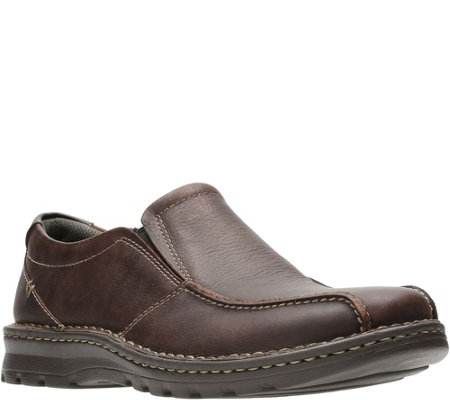 312683211c Clarks Men's Leather Loafers - Vanek Step - Page 1 — QVC.com