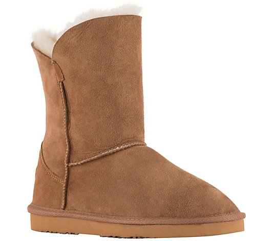 Lamo Suede and Sheepskin Boots - Liberty 9""