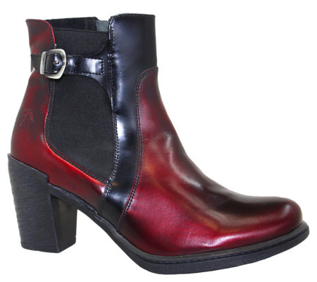 Dromedaris Real Leather Side Zip Ankle Boots Guinevere