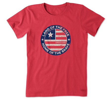 Life Is Good Land Of The Free Coin Crusher T Shirt
