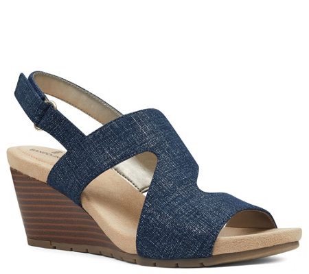 Bandolino Slingback Wedge Sandals - Gannet