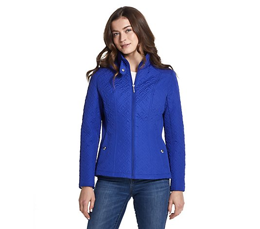 Weatherproof Quilted Jacket with Side Stretch
