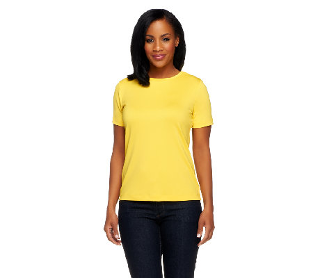 Susan Graver Essentials Butterknit Short Sleeve T-Shirt