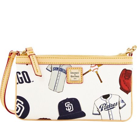 Dooney & Bourke MLB Padres Large Slim Wristlet