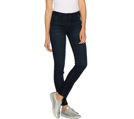 Laurie Felt Petite Silky Denim Slim Pull-On Jeans