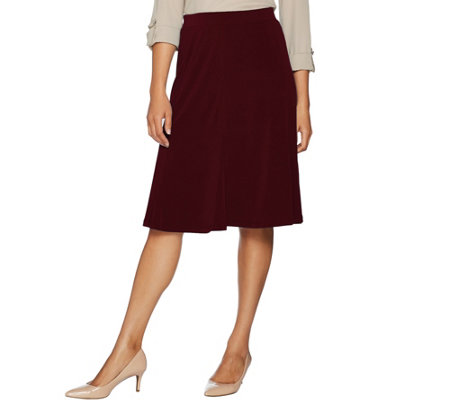 Every Day by Susan Graver Liquid Knit Fit & Flare Pull- On Skirt