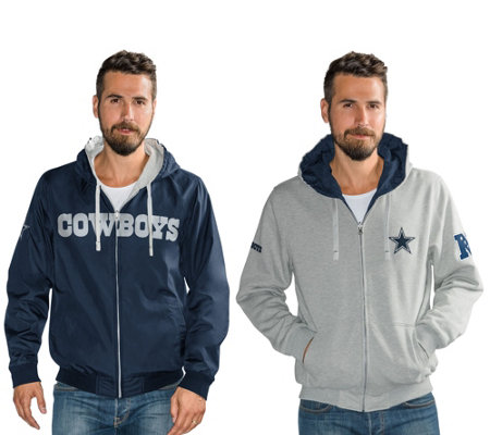 NFL Dallas Team Color Reversible Hoodie and Jacket