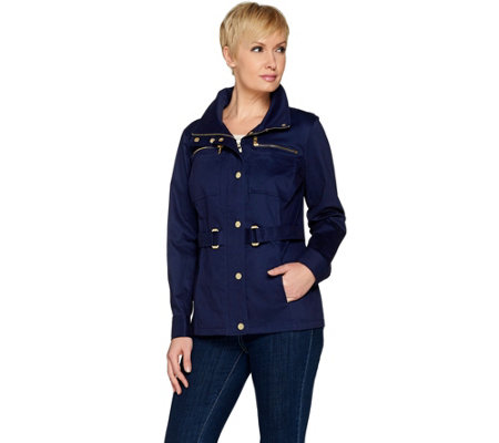 """As Is"" Belle by Kim Gravel Signature Belted Jacket"