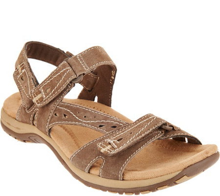 """As Is"" Earth Origins Suede Sport Sandals - Sophie"