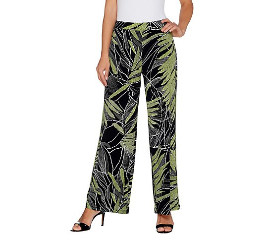 Susan Graver Printed Liquid Knit Pull-On Pants