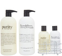 philosophy purity & microdelivery cleansing duos & vanity caddy - A307643