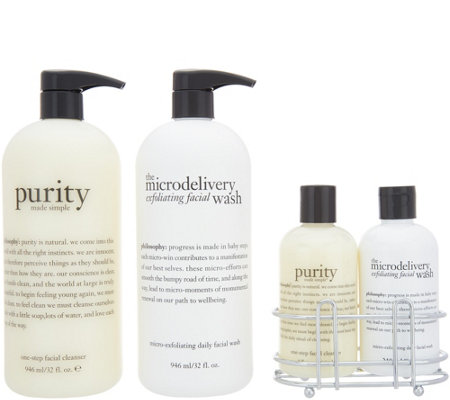 philosophy purity & microdelivery cleansing duos & vanity caddy